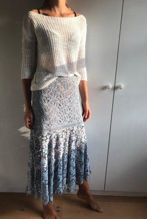 Michael Kors Lace Skirt azure-nude cotton