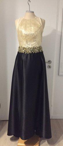 Vestido de baile color oro-negro