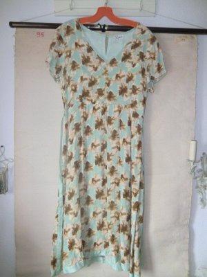 Traumhaftes Blumen Kleid Viskose Sommerkleid dress floral flower print dress Blumenkleid Blümchen