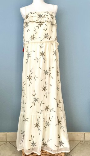 Traumhaftes Boho Kleid handgenähte Blütenverzierung Neu mit Etiketten