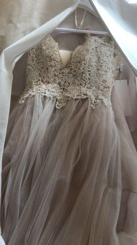no name Vestido de novia nude