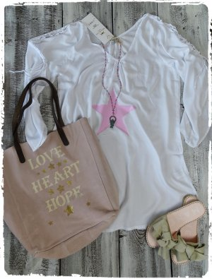 Hippie Dress white-light pink cotton