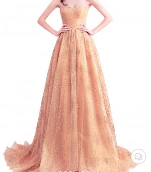 Traumhaftes Kleid in Gold Gr. 36