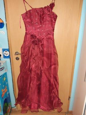 Vestido de baile rojo-rojo oscuro