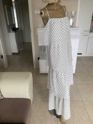 Traumhaftes Kleid .. Sommer .. weiß/schwarz gepunktet .. Gr. 40 # H&M # Neu .. blogger