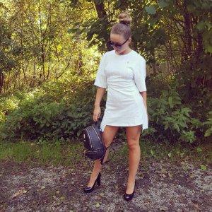 Philipp Plein Shirt Dress white-silver-colored cotton