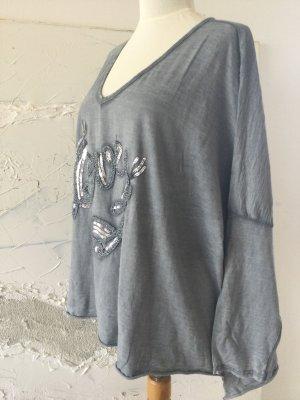 Traumhaftes Oversize-Shirt mit Pailetten