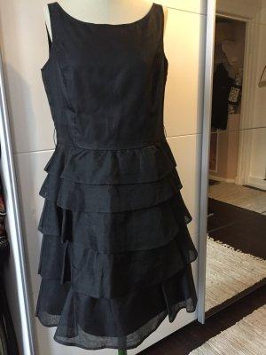 Traumhaftes Seidenkleid schwarz L 40