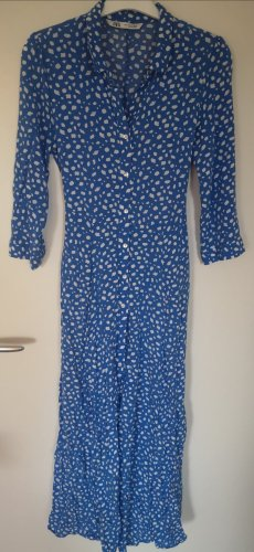 Zara Maxi Dress white-blue