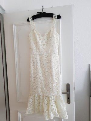 Chi Chi London Lace Dress oatmeal
