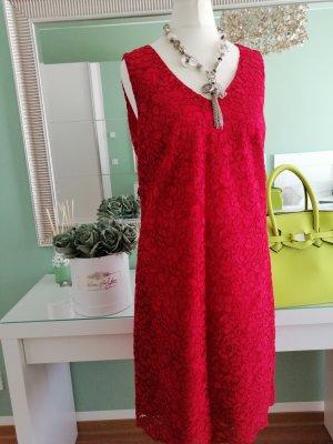 1.2.3 Paris Koronkowa sukienka malina Wiskoza
