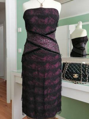 Escada Lace Dress brown violet-black