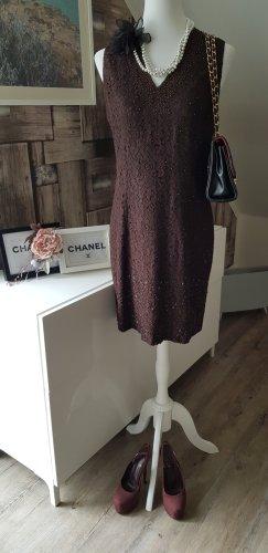 Wallis Lace Dress dark brown viscose
