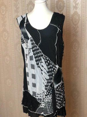 Tunic Dress white-black