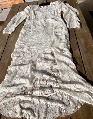 Boutique Empire Dress natural white polyester