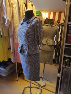 Traumkleid im 50th-Style - Dogtooth / Houndstooth - Gr. L