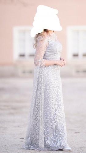 Charmant Evening Dress silver-colored-light grey