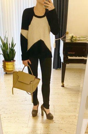 Traumteil: NP 299€ Lala Berlin Luxus Pullover, Größe S, wunderschön Schwarz weiß, oversized