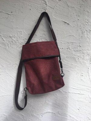 TRAVISTAR 3in1 Canvas Damentasche in Weinrot