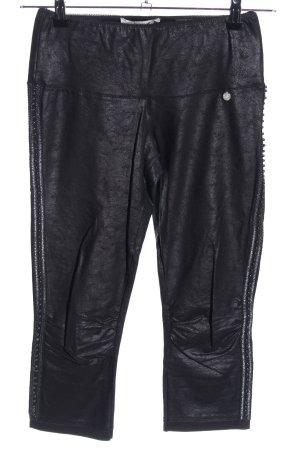 Tredy Pantalon 3/4 noir style décontracté