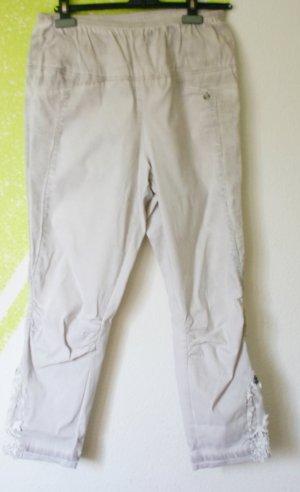 Tredy Bengalin Jeans Stretch viele Details + Spitze beige  Gr 44 (46)