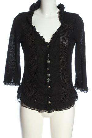 Tredy Blouse Jacket black casual look