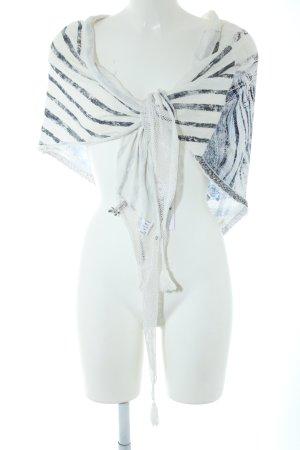 Tredy Bolero blau-weiß Streifenmuster Casual-Look