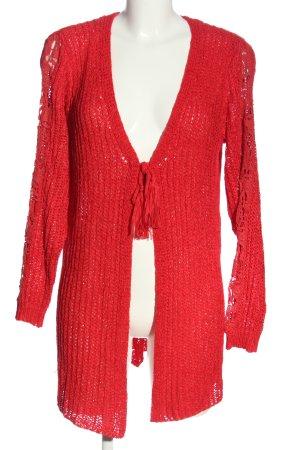 Tredy Cardigan rosso stile casual