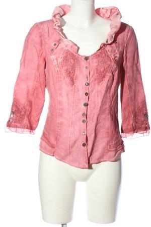 Tredy Camicia blusa rosa elegante