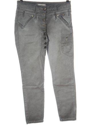 Tredy Jeans a vita alta grigio chiaro stile casual
