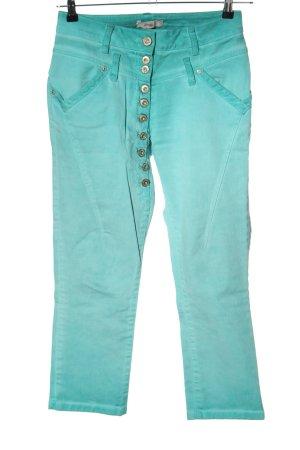 Tredy High Waist Jeans türkis Casual-Look