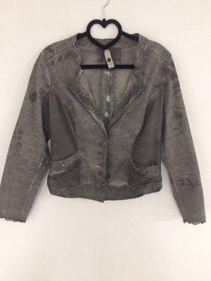 Tredy Short Jacket grey cotton