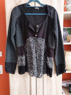 Tredy Chaqueta con capucha negro-gris oscuro
