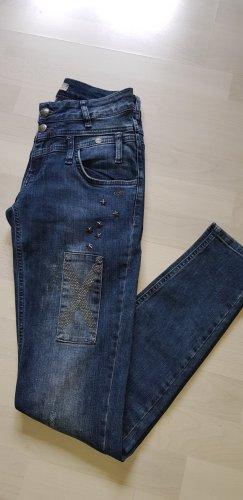 Tredy Jeans slim fit blu acciaio Cotone
