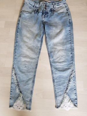 Tredy Jeans a 7/8 azzurro Cotone