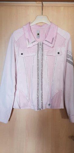 Tredy Denim Jacket light pink cotton