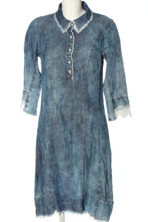 Tredy Denim Dress blue flecked casual look