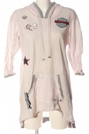Tredy Hooded Shirt pink flecked casual look