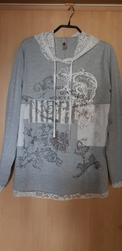 Tredy Hooded Shirt light grey-white cotton