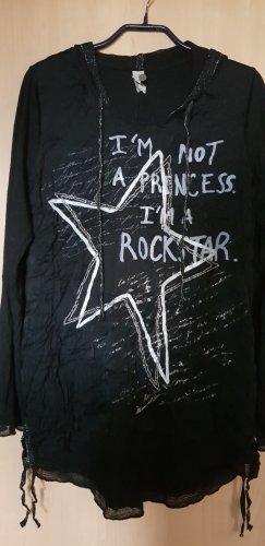 Tredy Hooded Shirt black viscose