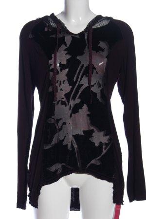Tredy Koszulka z kapturem czarny W stylu casual