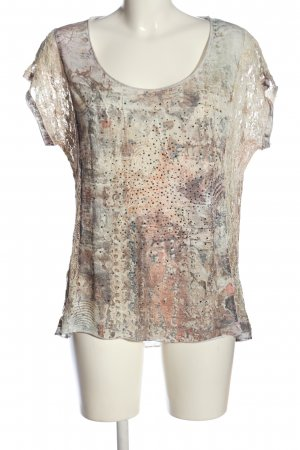 Tredy Kurzarm-Bluse abstraktes Muster Casual-Look