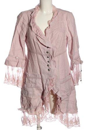 Tredy Abito a maniche corte rosa stile casual