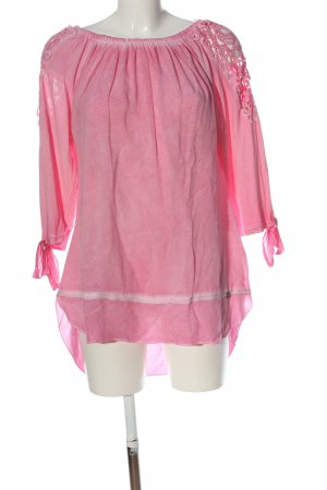 Tredy Langarm-Bluse pink Casual-Look