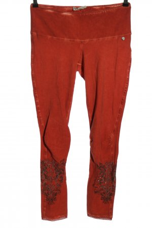 Tredy Legging licht Oranje abstract patroon casual uitstraling