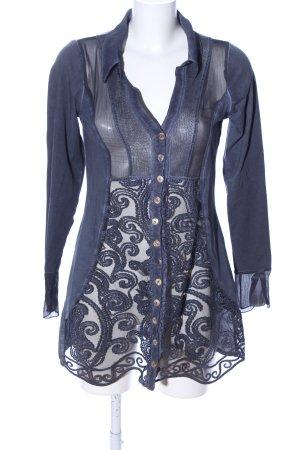 Tredy Long-Bluse blau Elegant