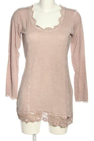 Tredy Camicia lunga rosa puntinato stile casual