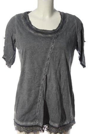 Tredy Camicia lunga grigio chiaro puntinato stile casual