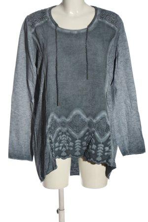 Tredy Manica lunga grigio chiaro stile casual