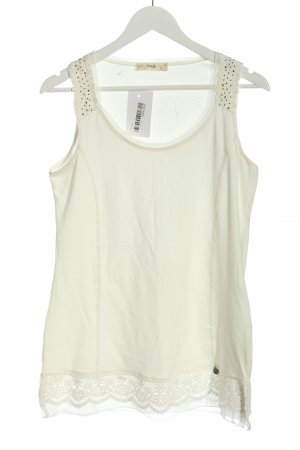 Tredy Lange top wit casual uitstraling